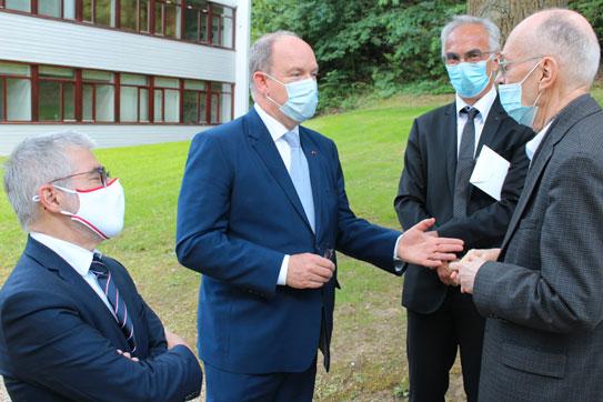 Visit of HSH Albert II of Monaco, June 11 2021, IHES